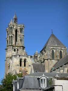 Laon - Towers of the Notre-Dame cathedral