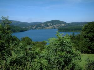 Laouzas lake - Trees, lake and forests (Upper Languedoc Regional Nature Park)