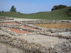 Larina archaeological site - Remains of a vast rural estate dating back to late Antiquity and the early Middle Ages, in the town of Hières-sur-Amby