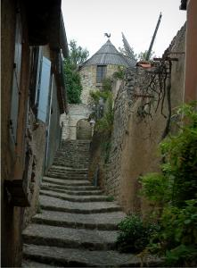 Lautrec - Stairway lined with houses leading to the windmill