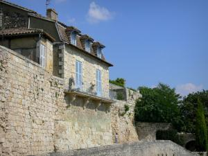 Lectoure - House facade and ramparts (fortifications) of the town