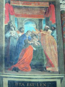 Lescar cathedral - Inside the Notre-Dame cathedral: painting - scene from the Life of Jesus