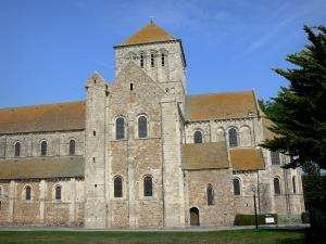 Lessay abbey - Romanesque abbey church