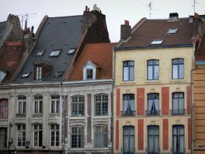 Lille - Facades of houses in Vieux-Lille (old town)