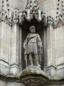 Lille - Statue of the Saint-Maurice church
