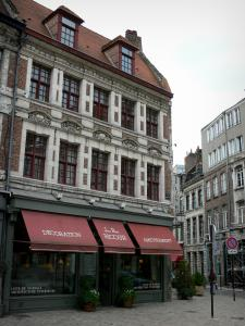 Lille - Houses and shop of Vieux-Lille (old town)