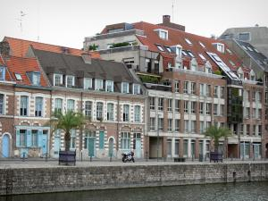 Lille - Wault quay, pond, houses and building