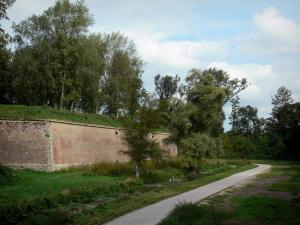 Lille - Fortifications of the citadel, ramparts circuit and trees