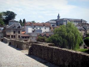 Limoges - Saint-Etienne bridge with view of houses and buildings of the city