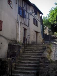 Limoges - Half-timbered houses and stair