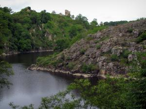 Limousin landscapes - Ruins of the Crozant castle dominating the river