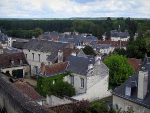 Loches - View of the houses of the city