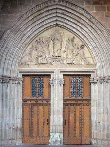 Lodève - Portal of the ancient Saint-Fulcran cathedral