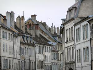 Lons-le-Saunier - Facades of houses