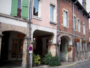 Louhans - Arcaded houses of the Grande-Rue high street