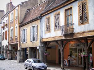 Louhans - Case porticate della High Street