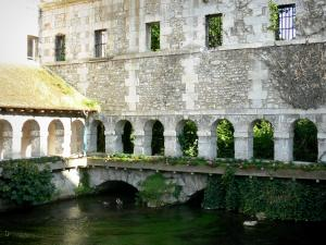 Louviers - Cloister of the former convent of the Penitents (cloister of the Penitents) on River Eure