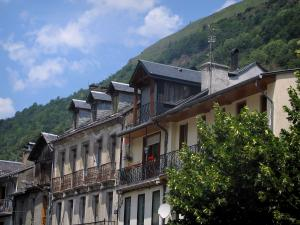 Luchon - Houses of the spa town and mountain