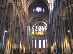 Lyon - Inside of the Saint-Jean cathedral