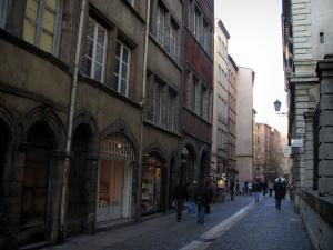 Lyon - Old Lyon: houses and shops of the Saint-Jean street