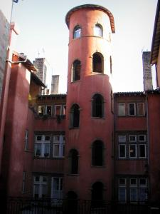 Lyon - Old Lyon: Rose tower of the Crible house