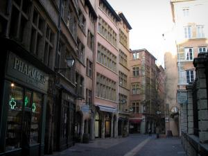 Lyon - Old Lyon: houses of the Saint-Jean street