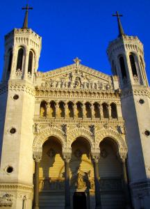 Lyon - Facade of the Fourvière basilica