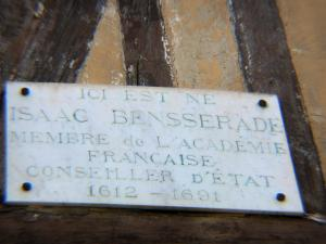 Lyons-la-Forêt - Plate of the birth house of Isaac Benserade