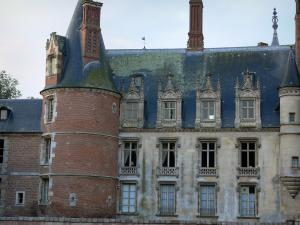 Maintenon castle - Tower and facade of the Renaissance-style castle