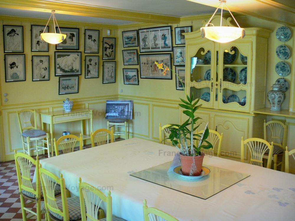 Photos la maison et les jardins de claude monet guide tourisme vacances - Foto van de eetkamer ...