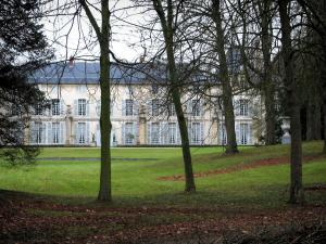 Malmaison castle - Castle (museum) and its park featuring trees