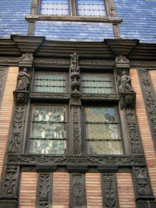 Le Mans - Old Mans - Plantagenet town: half-timbered facade of the Ave Maria house