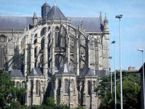 Le Mans - Old Mans - Plantagenet town: Gothic apse of the Saint-Julien cathedral