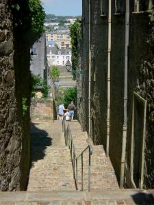 Le Mans - Old Mans - Plantagenet town: stairway