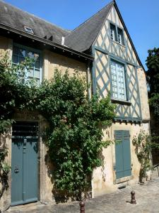Le Mans - Old Mans - Plantagenet town: house facade with its climbing roses