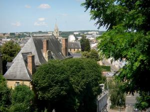 Le Mans - View over the rooftops of the town and the greenery