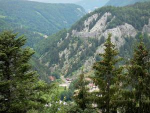 Maquisards viewpoint - Of the viewpoint, view of the Jura mountains covered with trees