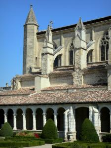 Marmande - Gothic Notre-Dame church, Renaissance cloister and French-style formal garden