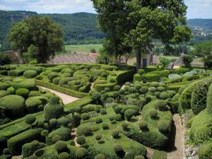 Marqueyssac gardens - Hand-clipped box trees, in the Dordogne valley, in Périgord