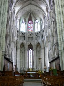 Meaux - Interior of the Saint-Étienne cathedral: choir
