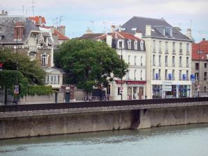 Meaux - River Marne and facades of the city