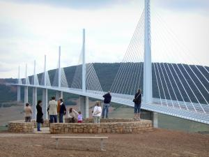 Millau viaduct - Belvedere overlooking the cable-stayed motorway bridge