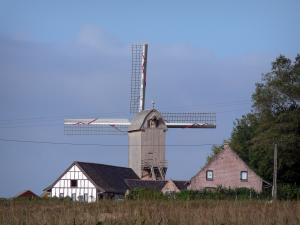 Mills of Flanders - Mill of Roome (wooden windmill on pivot), in Terdeghem