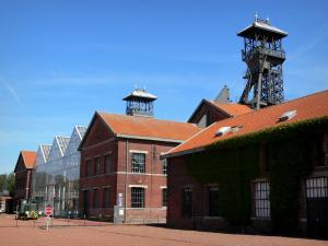 Mining History Centre of Lewarde - Mine museum: buildings of the former Delloye pit