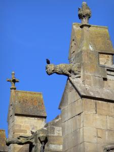 Mirepoix - Gargoyles of the Saint-Maurice cathedral of southern French Gothic style