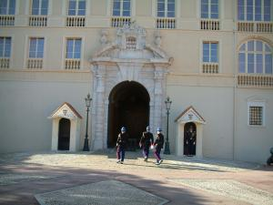 Monaco and Monte Carlo - Palace of the Prince with its guards and its square