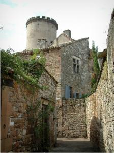 Monestiés - Tower and stone houses of the village