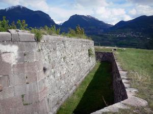 Mont-Dauphin - Moat and fortifications of the citadel (fortified town built by Vauban)