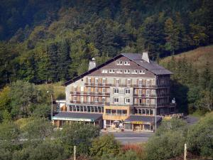 Le Mont-Dore - Ski resort: large cottage surrounded by trees; in the Massif du Sancy mountains (Monts Dore), in the Auvergne Volcanic Regional Nature Park