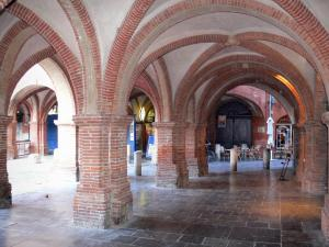 Montauban - Under the arcades of the Place Nationale square